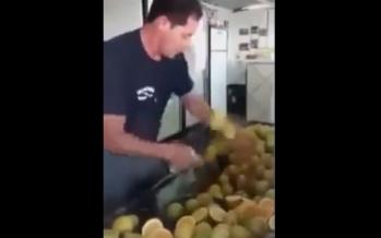 Το πιο γρήγορο κόψιμο λεμονιού (βίντεο)