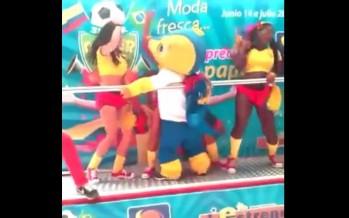 H μασκότ του Mundial ξεσάλωσε! (video)