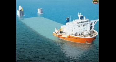 Το πλοίο που φαίνεται βυθισμένο αλλά…(εικόνες)