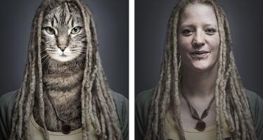 Γάτες ποζάρουν ντυμένες σαν τα αφεντικά τους (εικόνες)