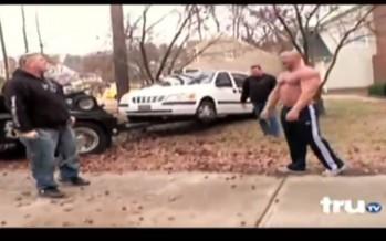 Ποτέ μην πειράξεις το αμάξι ενός bodybuilder (βίντεο)