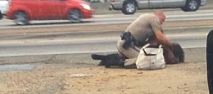 Αστυνομικός δέρνει γυναίκα για να την… προστατεύσει!