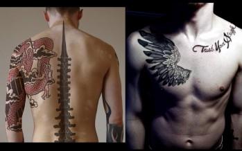 Αντρικά Tattoo για πλάτη και στήθος!