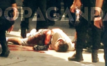 Ο Νίκος Μαζιώτης τραυματισμένος και πεσμένος στο πεζοδρόμιο!