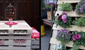 Ιδέες για να μετατρέψεις παλιές παλέτες σε έπιπλα κήπου