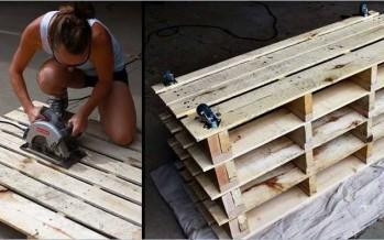 DIY: Πως να φτιάξεις παπουτσοθήκη από παλέτες!