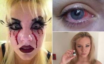 Κόλλησαν οι φακοί στα μάτια της και δείτε τι έπαθε!