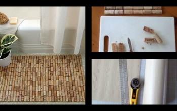 DIY: Πως να φτιάξεις χαλάκι μπάνιου από φελλούς!
