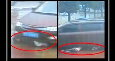 Συγκλονιστικό βίντεο: 2 παιδιά βγήκαν ζωντανά από τις ρόδες αυτοκινήτου