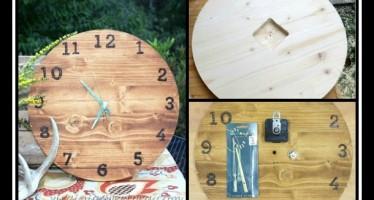 Ξύλινες κατασκευές: Πως να φτιάξεις μόνος σου ρολόι τοίχου!