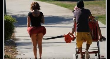 Τι θα έκανες αν κάποιος σήκωνε τη φούστα μιας κοπέλας στο δρόμο;