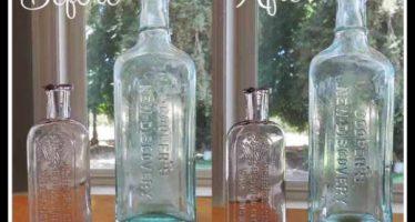Πως να καθαρίσεις τα παλιά μπουκάλια!