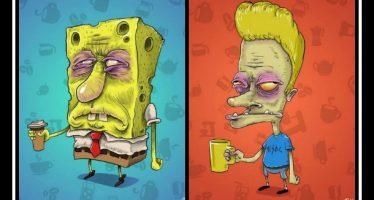 Πως θα ήταν τα cartoons χωρίς να πιουν καφέ!