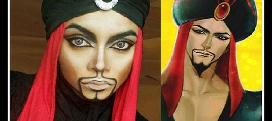 Μακιγιέζ μεταμορφώνεται σε χαρακτήρες της Disney με την μαντίλα της!