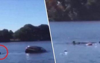 Την έσωσε από βέβαιο θάνατο όταν βυθιζόταν το αμάξι της στη λίμνη!