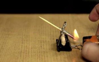 Πως να φτιάξεις «ρουκέτα» με μία οδοντογλυφίδα!