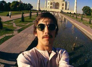 george harrison selfie taj mahal