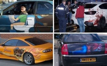 16 Αυτοκίνητα με πολύ περίεργα και αστεία αυτοκόλλητα!