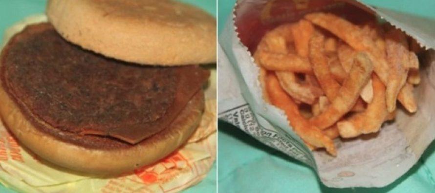 Έτσι είναι ένα cheeseburger με πατάτες από McDonald's 6 χρόνια μετά!