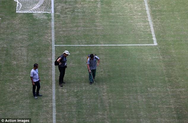 Βάφουν πράσινο το γρασίδι στο Μανάους!