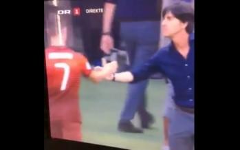 Τι κάνει ο προπονητής της Γερμανίας πριν τη χειραψία με το Ρονάλντο;