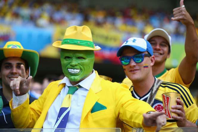 οπαδοί του Περίεργοι και αστείοι οπαδοί του που με τις εμφανίσεις τους έγιναν το επίκεντρο στις κερκίδες αλλά και σε μερικές περιπτώσεις αξιοθέατο!! Φαντάσου τι θα δούμε μέχρι το τέλος του Mundial....