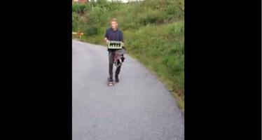 Γιατί είναι κακή ιδέα να κάνεις skateboard με μπύρες στα χέρια(βίντεο)