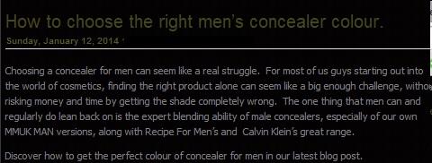 Υπάρχει μακιγιάζ για άνδρες και το προτιμούν όλο και περισσότεροι...
