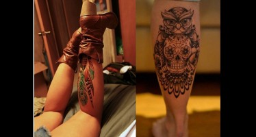 15 ιδέες για αντρικά και γυναικεία Τατουάζ στη γάμπα
