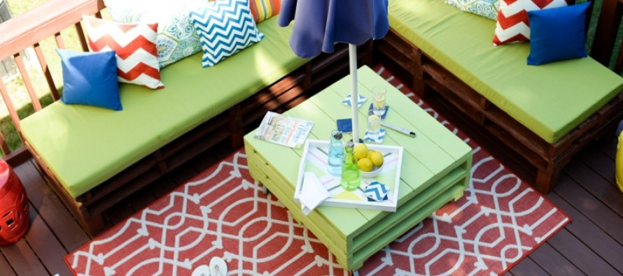 DIY: Φτιάξε μόνος σου έπιπλα κήπου με παλέτες!