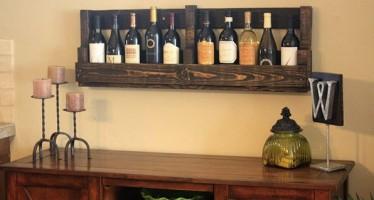 DIY: Φτιάξε μόνος σου θήκη κρασιών από παλέτες!