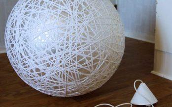 DIY: Κατασκευή φωτιστικού με τη βοήθεια μιας μπάλας πιλάτες!