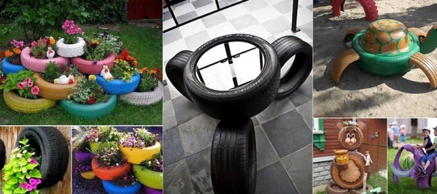 DIY: Τι να φτιάξεις από παλιά λάστιχα αυτοκινήτου!