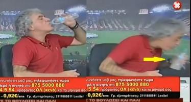 VIDEO: Έδωσαν στον Τσουκαλά τσίπουρο αντί για νερό!