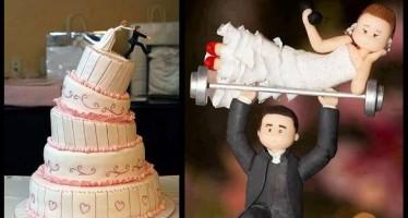 15 Πρωτότυπες και αστείες γαμήλιες τούρτες!
