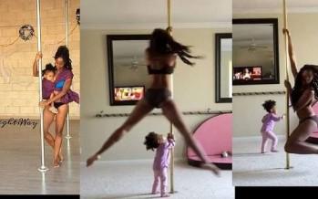 Μαμά κάνει pole dancing με την 2χρονη κόρη της!