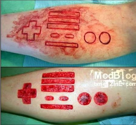 Scarification tattoo aggouria