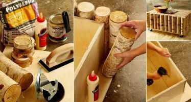 DIY: Φτιάξε μόνος σου τραπεζάκι από κορμούς δέντρου!