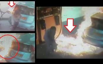 Γυναίκα έβαλε επίτηδες φωτιά σε βενζινάδικο γιατί… (Βίντεο)