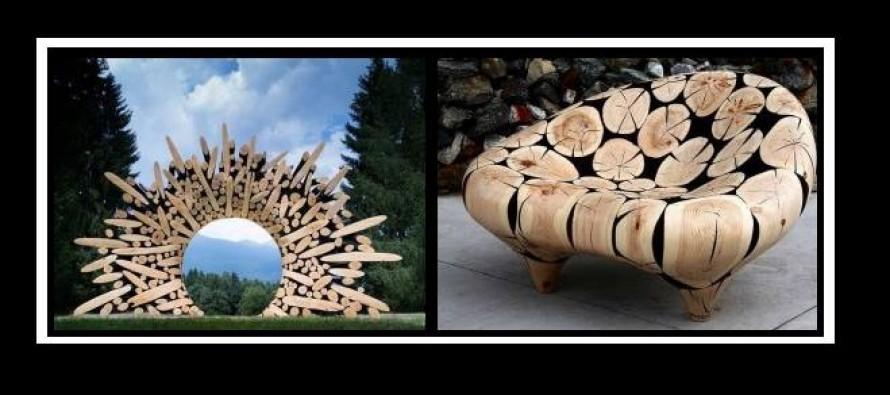 12 Περίεργες κατασκευές με κορμούς δέντρων!