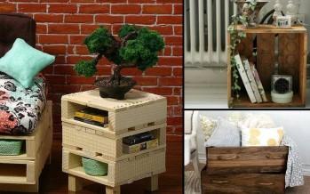 5 Ιδέες για DIY κομοδίνα από παλέτες!