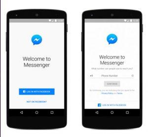 sign up in messenger