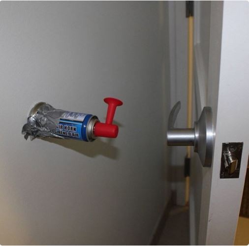 airhorn on wall