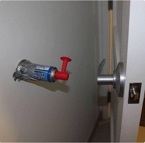 airhorn on wall