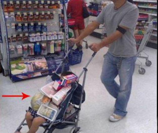manmade shopping cart