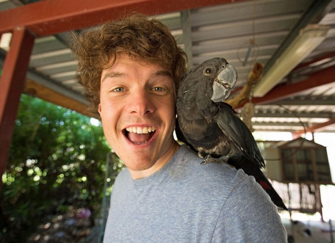 selfie me papagalo