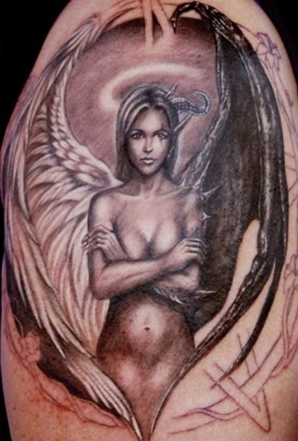 antriko tattoo aggelos diavolos