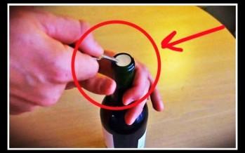 Πως να ανοίξεις ένα μπουκάλι χωρίς τιρμπουσόν!
