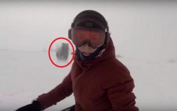 Snowboarder τραβούσε βίντεο ενώ την κυνηγούσε αρκούδα!
