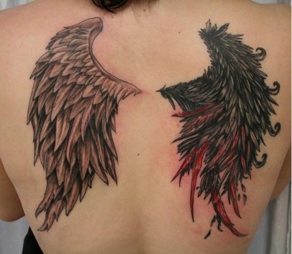 tattoo aggelos diavolos ftera